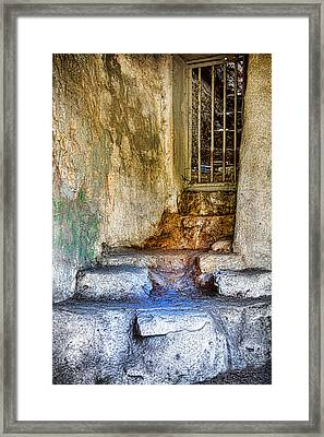 Old Abandoned La Zoo - Entrance To The Lions Den Framed Print