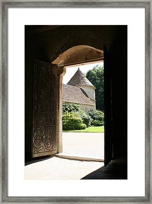 Old Abbey Church Door - Abbey Fontenay Framed Print by Christiane Schulze Art And Photography