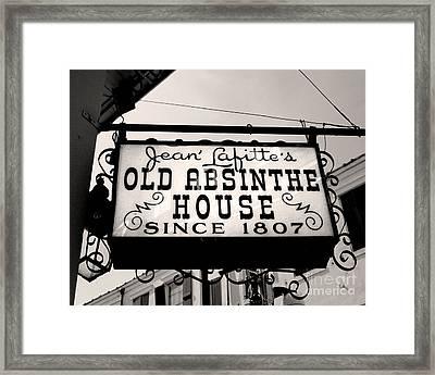 Old Absinthe House Framed Print by Jillian Audrey Photography