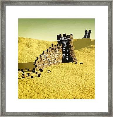 Old Adages Framed Print by Bruce Iorio
