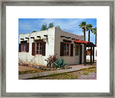 Old Adobe Cottage Framed Print by Brian Lambert