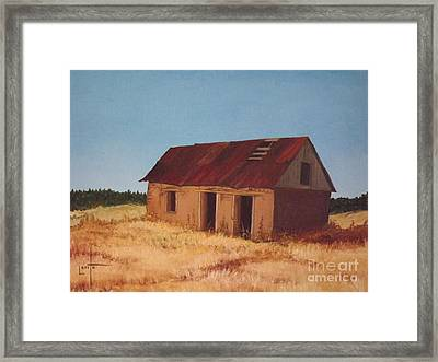 Old Adobe House Framed Print by Lorita Montgomery