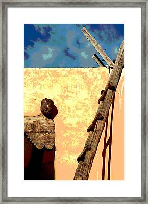 Framed Print featuring the photograph Old Adobe by Mary Bedy