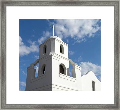 Old Adobe Mission Scottsdale Framed Print by Julie Palencia