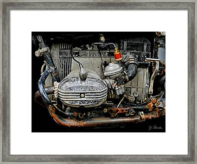 Old Age B M W Framed Print by Joe Bonita