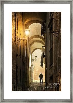 Old Alley Framed Print