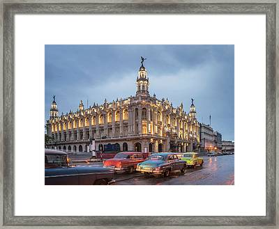 Old American Cars And The Cuban Framed Print by Buena Vista Images