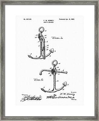Old Anchor Patent Framed Print