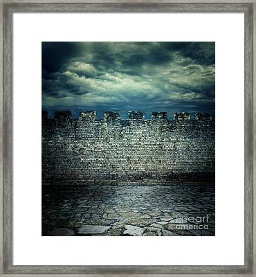 Old Ancient Wall Framed Print