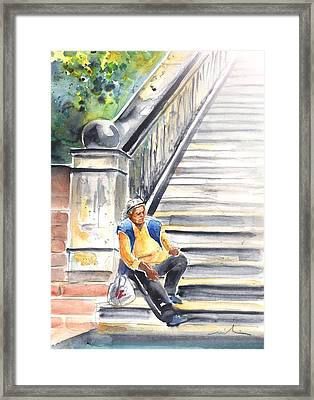 Old And Lonely In Prague 02 Framed Print by Miki De Goodaboom