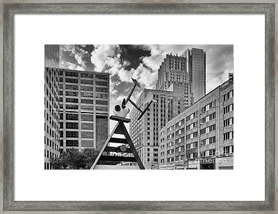 Old And New Juxtaposed - Downtown Houston Texas Framed Print
