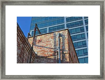 Old And New Los Angeles Framed Print by Bill Owen