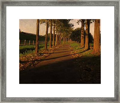 Framed Print featuring the painting Old And New Road In Tilburg by Nop Briex