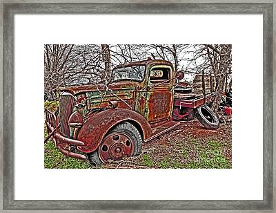 Old And Tired Framed Print by Pattie Calfy