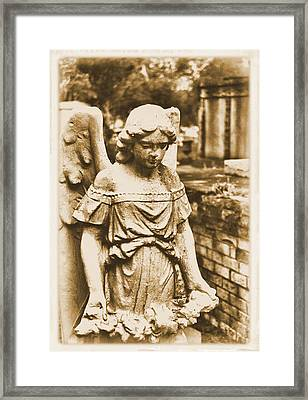 Framed Print featuring the photograph Blessed Angel   by Nadalyn Larsen