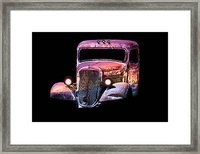 Framed Print featuring the photograph Old Antique Classic Car by Gunter Nezhoda