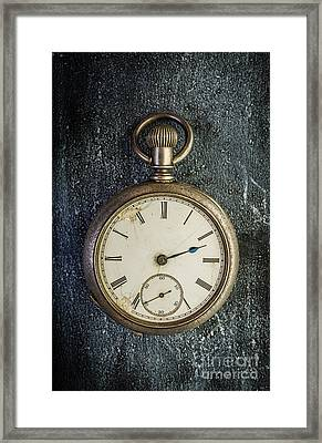 Old Antique Pocket Watch Framed Print