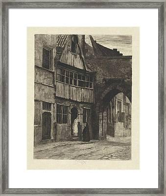 Old Antwerp, Willem Steelink II Framed Print by Willem Steelink (ii)