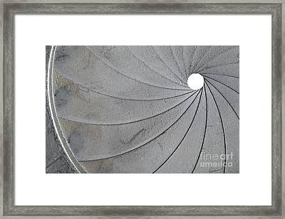 Old Aperture - Exposure Diaphragm Framed Print