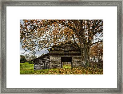 Old Appalachian Barn Framed Print by Debra and Dave Vanderlaan