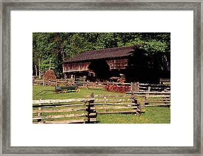 Old Appalachian Farm Cantilevered Barn Framed Print by Paul W Faust -  Impressions of Light