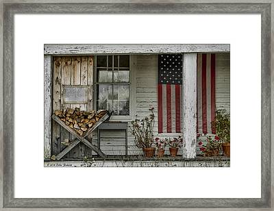 Old Apple Orchard Porch Framed Print