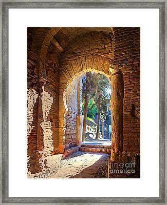 Old Archway Framed Print by Lutz Baar
