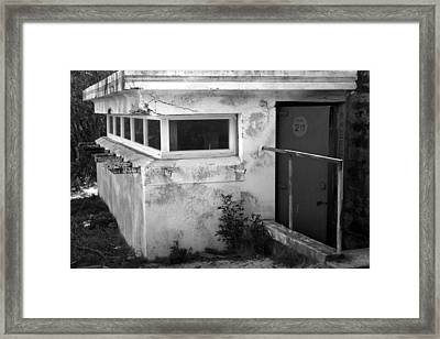 Framed Print featuring the photograph Old Army Lookout by Miroslava Jurcik