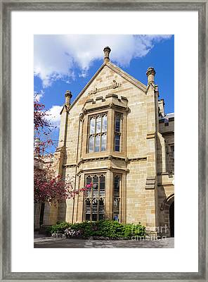 Old Arts Building - Melbourne University - Australia - Academic Tudor - Jacobethan Style Building Framed Print by David Hill