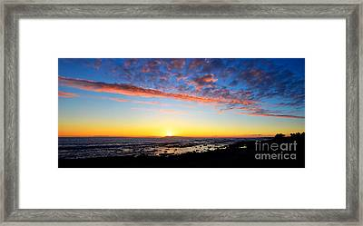 Framed Print featuring the photograph Old A's Panorama by David Lawson