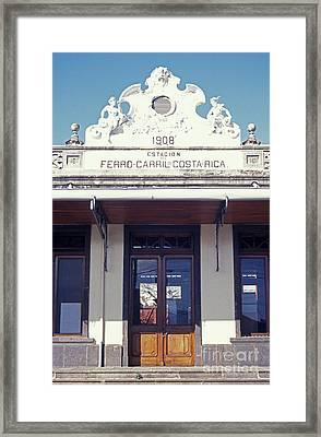 Old Atlantic Railway Station San Jose Costa Rica Framed Print by John  Mitchell