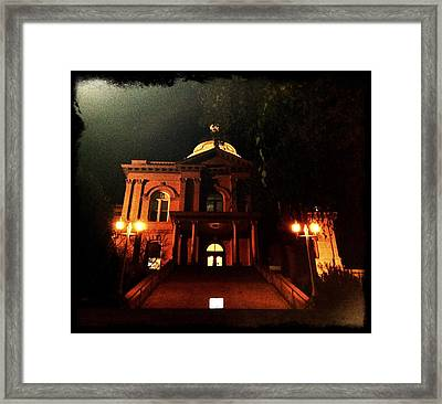 Old Auburn Courthouse Framed Print by Sherry Flaker