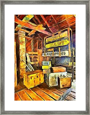 Old Baggage Claim Framed Print