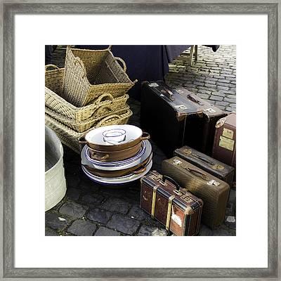 Old Baggage Framed Print by Teresa Mucha