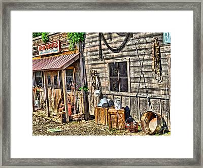 Old Bait Shop And Antiques Framed Print by Dan Sproul