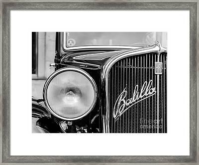 Old Balilla Car Framed Print by Mauro Marzo