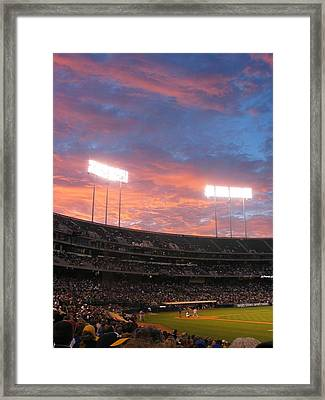 Framed Print featuring the photograph Old Ball Game by Photographic Arts And Design Studio