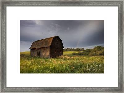 Old Barn After The Rain Framed Print