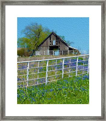 Old Barn - Another Spring Framed Print