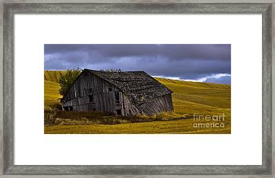 Old Barn Framed Print by Camille Lyver