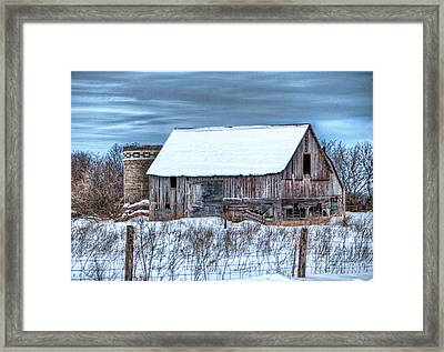 Old Barn Framed Print by David  Parry