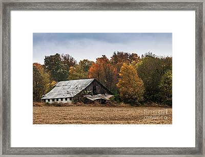 Framed Print featuring the photograph Old Barn by Debbie Green
