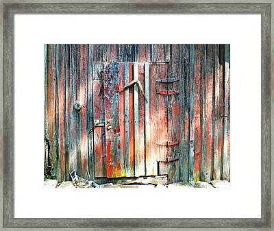 Old Barn Door 2 Framed Print