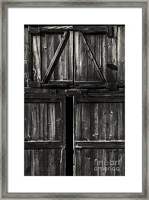 Old Barn Door - Bw Framed Print by Paul W Faust -  Impressions of Light