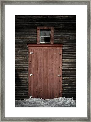 Old Barn Door Framed Print by Edward Fielding