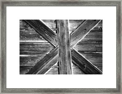Old Barn Door Framed Print