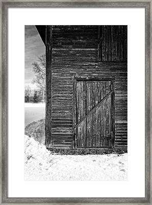 Old Barn Door Windsor Vermont Framed Print