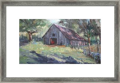 Old Barn In Arkansas Framed Print