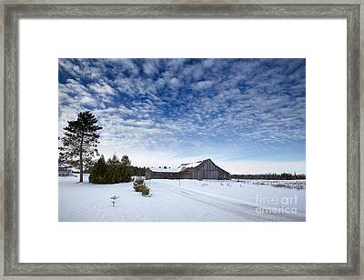 Old Barn In Beauce Framed Print by Jane Rix