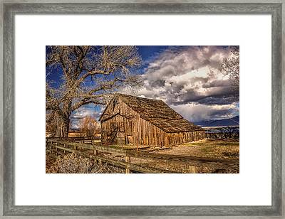 Old Barn In Franktown Framed Print by Janis Knight